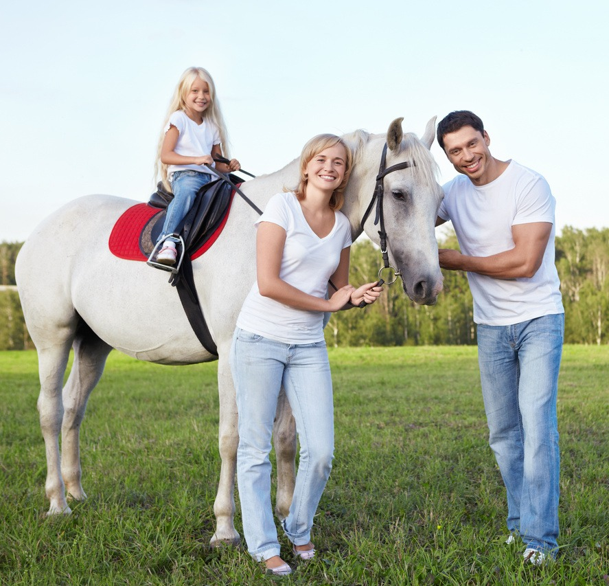 Family and Their Horse